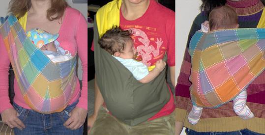 Όρθια μωρά σε μάρσιπο pouch