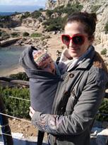 Με το μωρό σε Αστεράκι σλινγκ