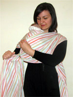 Burp position with ring sling