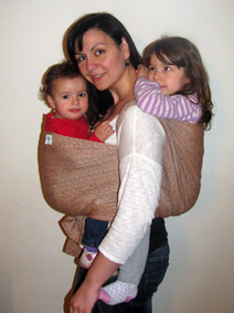 Wearing two babies with one wrap