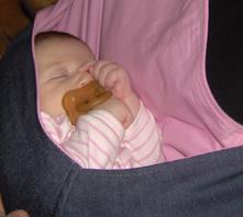 Μωράκι σε μάρσιπο pouch