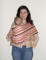 Με το pouch και το μωρό μπροστά