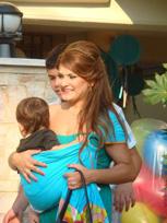 Με το μωρό σε Αστεράκι sling