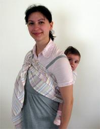 Μάρσιπος ring sling στην πλάτη
