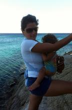 Με mei tai στην παραλία