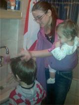 Με το μωρό στο μπάνιο