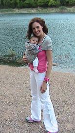 Με το μωρό στην παραλία