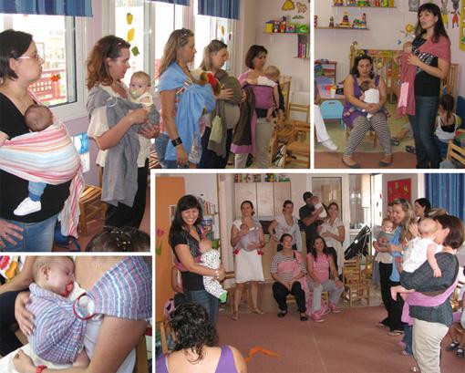 Υπέροχες συναντήσεις με μαμάδες και μπαμπάδες για τους μάρσιπους αγκαλιάς