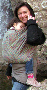 Μεγάλο παιδί σε μάρσιπο wrap