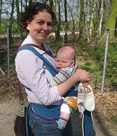 Μαμά και μωράκι σε μάρσιπο mei tai αστεράκι!