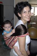 Μωράκι στην πλάτη με μάρσιππο pouch