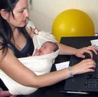 Με το μωρό στη δουλειά