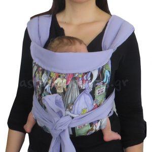 Νεογέννητο μωρό σε μάρσιπο Αστεράκι mei tai