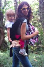 Πεζοπορία με μεγάλο παιδί στο μάρσιπο