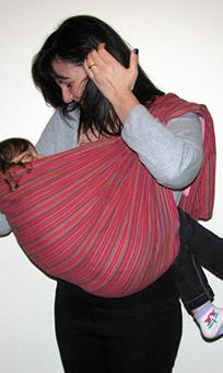 Μεγάλο παιδί σε Αστεράκι ring sling