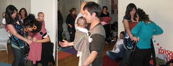 Πώς φοράμε χειροποίητους μάρσιπους αγκαλιάς babywearing