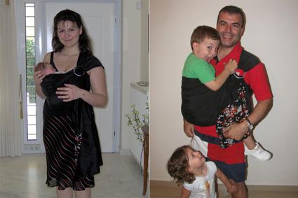 Με το ίδιο sling και με το ίδιο μωρό, 4,5 χρόνια μετά!