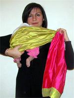 Για νεογέννητα μωράκια σε όρθια θέση στο μάρσιππο αγκαλιάς