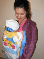Η πρώτη βόλτα του μωρού, σε μαρσιπο αγκαλιάς