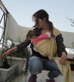 Κηπουρική μαζί με το μωρό