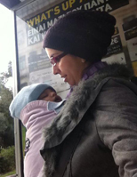 Με το μωρό στο κρύο!