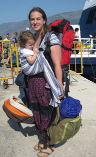 babywearing and travelling
