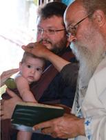 Στη βάφτιση με mei tai