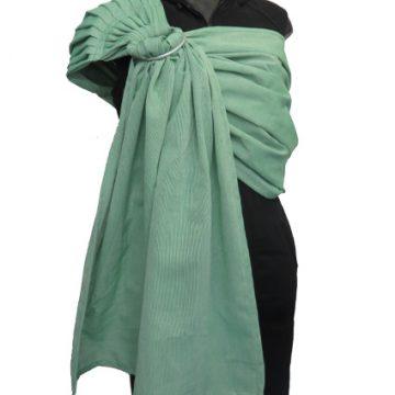 Μάρσιπος ring sling υφαντό με πράσινο