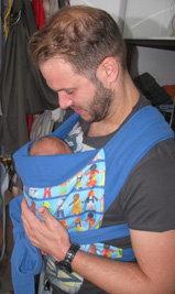 Μπαμπάς με το μωρό του