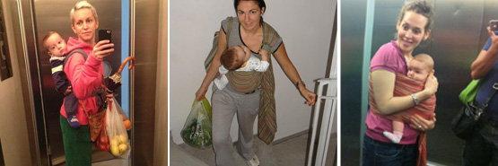Στις σκάλες με το μωρό
