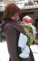 Με το μωρό στα χιόνια