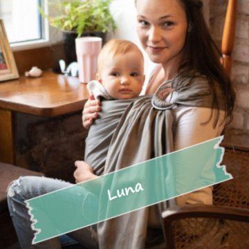 εργονομικός μάρσιπος με κλιπς luna dream