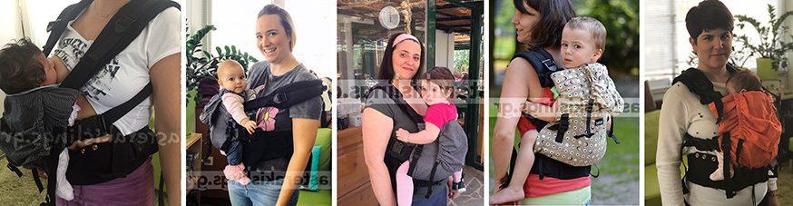 Μάρσιπος KiBi carrier από νεογέννητο, για θηλασμό, για την πλάτη, για μεγάλα παιδιά